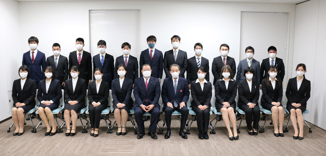 2020年度(令和2年度)入社式 | 東京シティ青果株式会社